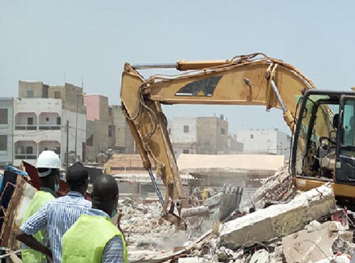 marché de Gueule Tapée complètement démoli pour faire place à un Centre Commercial Moderne