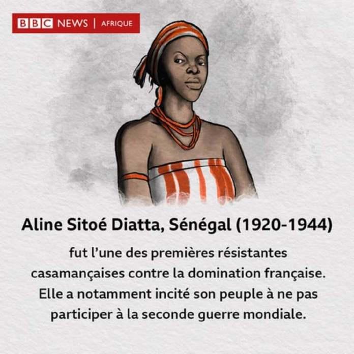 Aline Sitoé Diatta, combattante de l'indépendance du Sénégal.