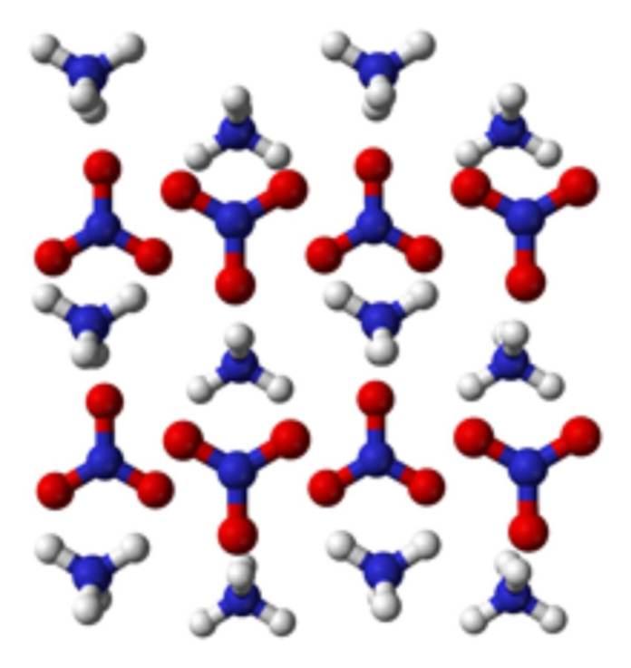 Ammonium-nitrate-xtal-3D-balls