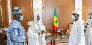 Décès du Khalife de Médina Baye Muhammadu Buhari présente ses les condoléances à Macky Sall via des émissaires