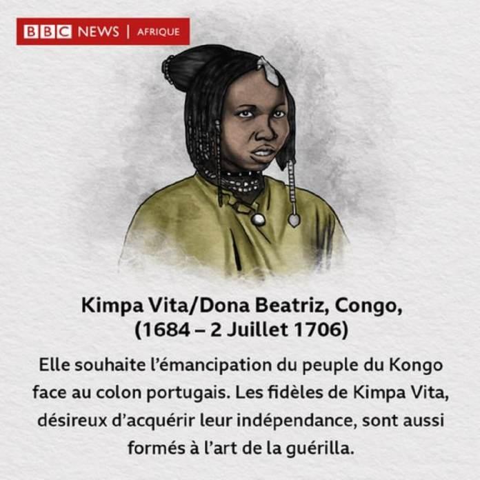 Kimpa Vita-Dona Beatriz, combattante de l'indépendance du Royaume Kongo.