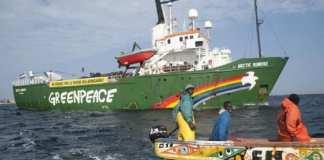 rapport de Greenpeace révèle la présence de huit navires de pêche industrielle aux