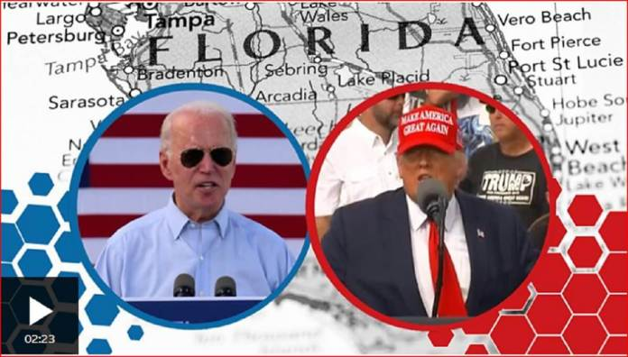 A tale of two rallies Trump and Biden stage duelling events in Florida-Capture