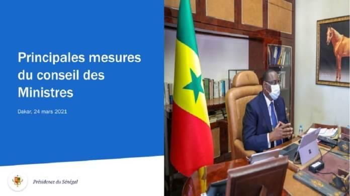 Communiqué du conseil des ministres du mercredi 07 avril 2021 1