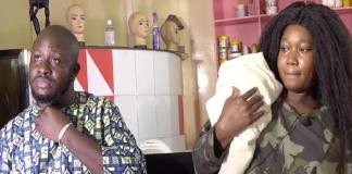 Ndeye Khady, patronne d'Adji Sarr, avec son bébé prématuré