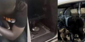 images de la camionnette d'espionnage planquée
