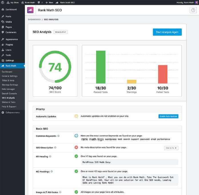 Rank Math, SEO WordPress Rendue facile 3