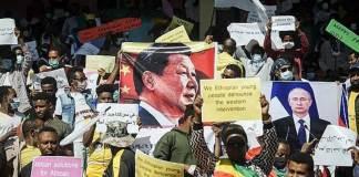 Ethiopie www.kafunel.com manifestation contre l'ingérence américaine
