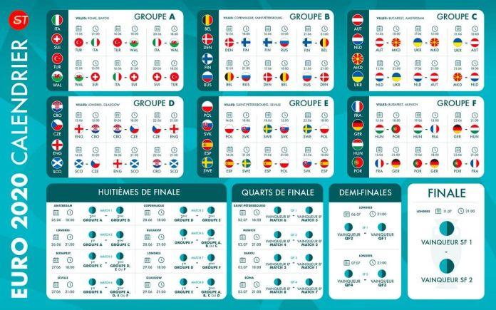 Calendrier Euro 2020 www.kafunel.com préparez-vous à vibrer !