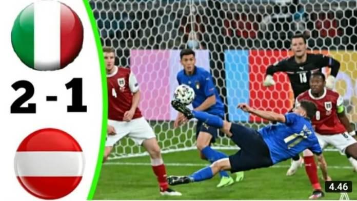 Italy vs Austria 2 - 1 www.kafunel.com Euro2021
