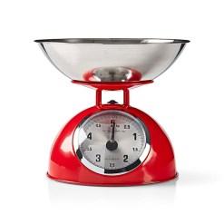 Retro køkkenvægt i rød