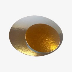 Kagepap 30cm guld sølv