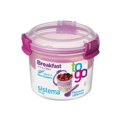 Sistema Madkasse Breakfast To Go - Blå, Pink, Grøn & Lilla