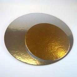 Kagepap guld/sølv – 20cm – 3 stk. fra FunCakes