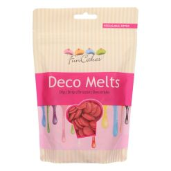 Funcakes Deco Melts Rød, 250g