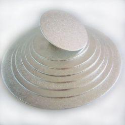 Kagefad sølv rund 30,5 cm fra FunCakes