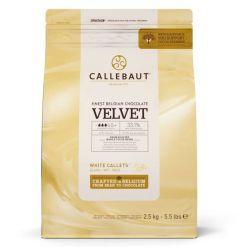 Callebaut Chokolade Velvet White 2,5 kg – (33,1 %)
