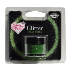 Glitter, Holly Green, 5 g - Rainbow Dust