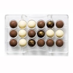 Halvkugle Ø2,5 cm. – Polycarbonat Chokoladeform - Decora
