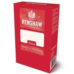 Hvid Fondant Extra, 1 kg - Renshaw