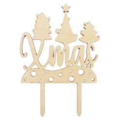Jule Topfigur I Træ, Xmas - Scrapcooking