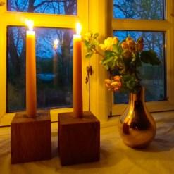 Hånddyppede lys af bivoks – 2 stk - Bistad