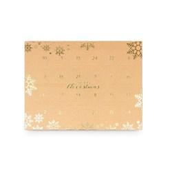 Lav selv julekalender æske, 24 låger - Guld Snefnug
