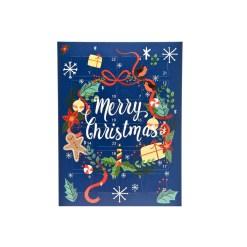 Lav selv julekalender æske, 24 låger - Krans
