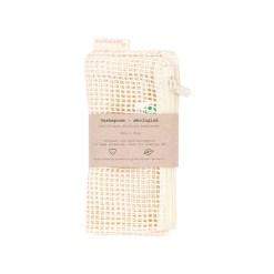 Vaskepose med lynlås økologisk - Pargaard