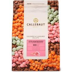 Callebaut Chokolade Jordbær, 2,5 kg