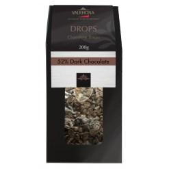 Valrhona chokolade, Drops Noir 52% 200g
