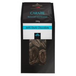 Valrhona chokolade, Feves Caraibe 66% 200g