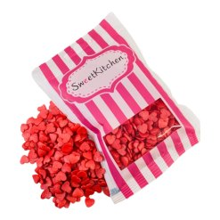Røde Hjerter Krymmel 40 g. - SweetKitchen