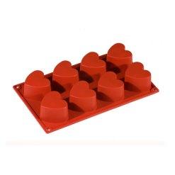 Silikoneform Hjerte Rød - Pavoni