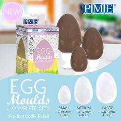 Påskeæg sæt chokoladeform, 3 stk. - PME