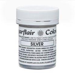 Chokoladefarve Sølv 35g - Sugarflair