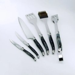 Grillsæt / BBQ værktøj Guld, 6 dele - Laguiole