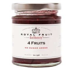 4 frugter marmelade uden tilsat sukker 215g - Belberry