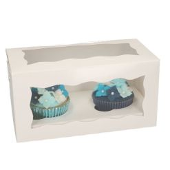 Kageboks til 2 Cupcakes – 5 stk., Funcakes