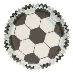 Fodbold Muffinsforme, 48 stk. - FunCakes