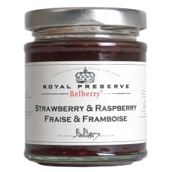 Jordbær/hindbær marmelade ekstra 215g - Belberry