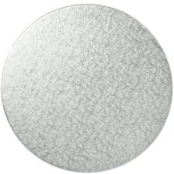 Sølv kagepap 20 cm – Rund