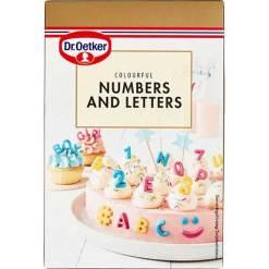 Tal og bogstaver spiselig kagepynt - Dr. Oetker