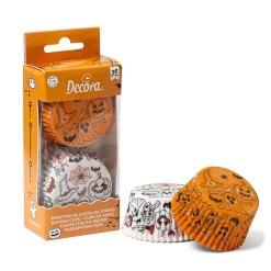 Halloween muffinsforme græskar & spøgelser 36 stk. - Decora