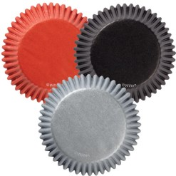 Muffinsforme 75 stk. Rød, Sølv, Sort - Wilton