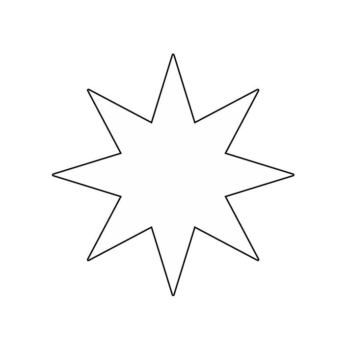 Orijinal Küçük Yıldız Boyama Yazdırılabilir Boyama Sayfaları