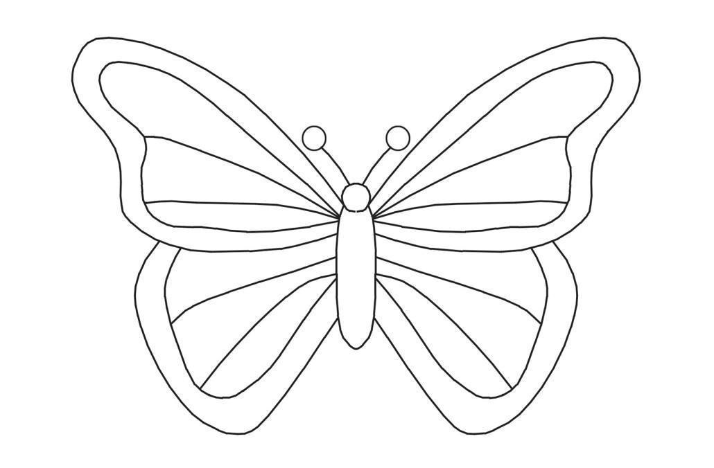 Kelebek El Kuklasi Faber Castell Eglenceli Boyama Projedenizi