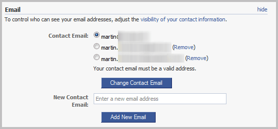 FB Email Address