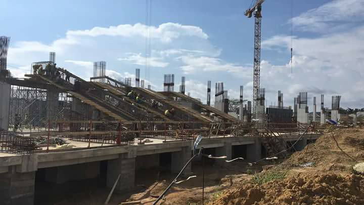 INCOMPLETE STADIUM IN CAMEROON.  COURTESY