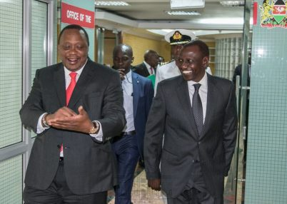President Uhuru Kenyatta and and DP William Ruto. PHOTO/ COURTESY]